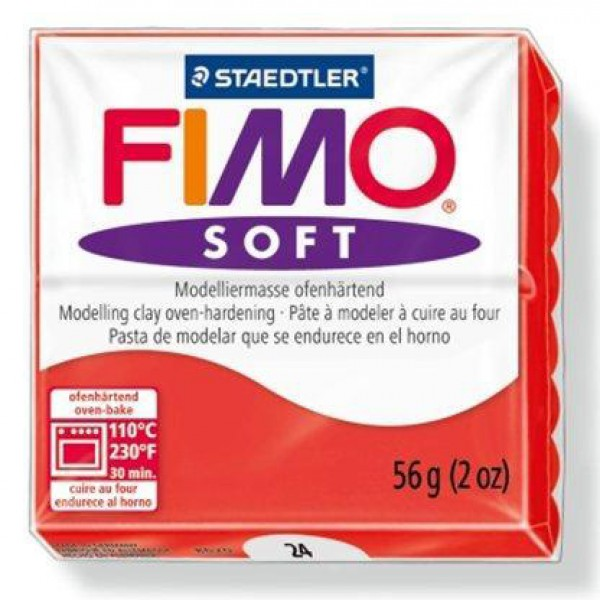 FIMO SOFT 56G - 024 ROSSO INDIANO