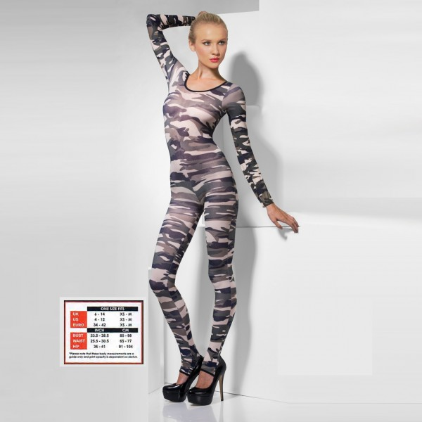 Sexy camouflage bodysuits