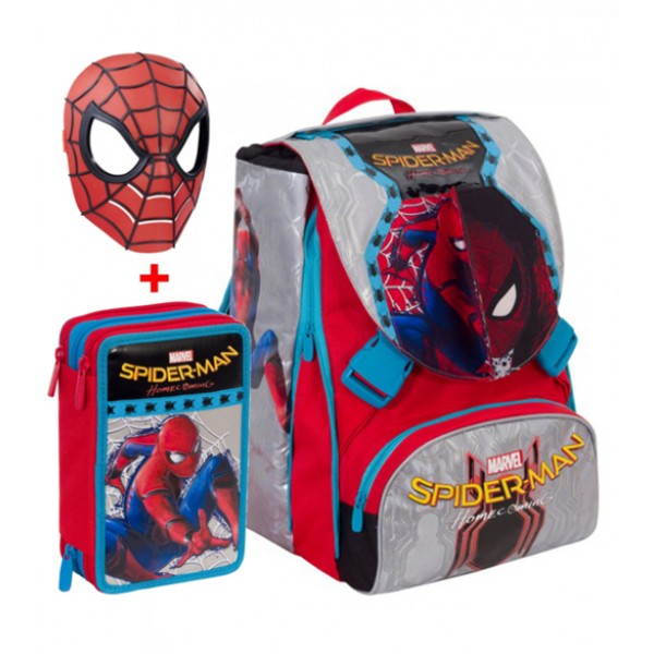Zaino Estensibile Spiderman Homecoming Seven con Gadget + Astuccio 2017-2018