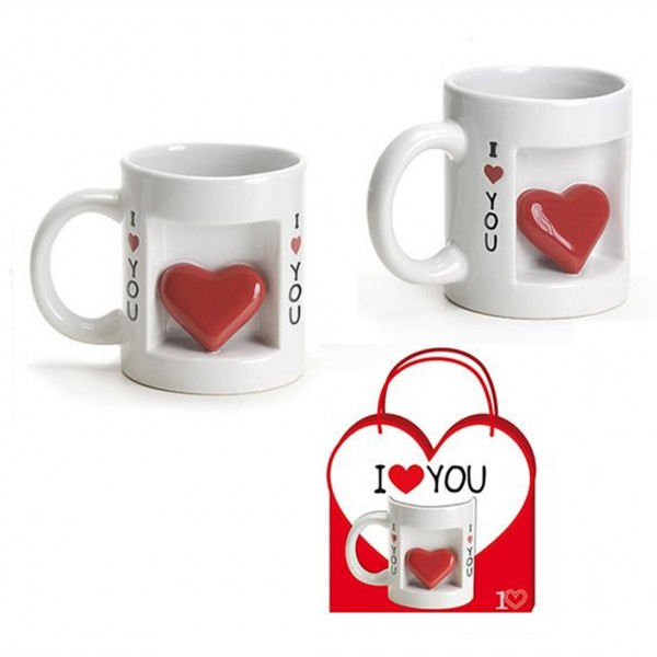 Tazza Amore i love you con cuore 3D