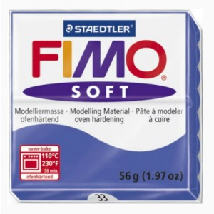 FIMO SOFT 56G - 033 BLU BRILLANTE