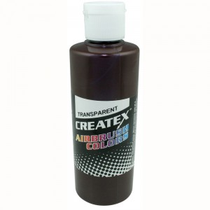 Colore Aerografo Createx Trasparent 5128 Dark Brown, 60 ml